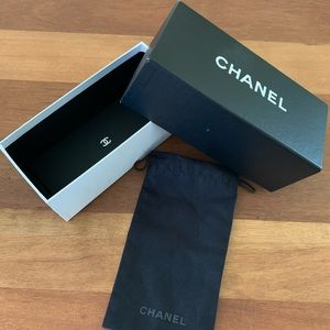 Chanel box and glasses cover